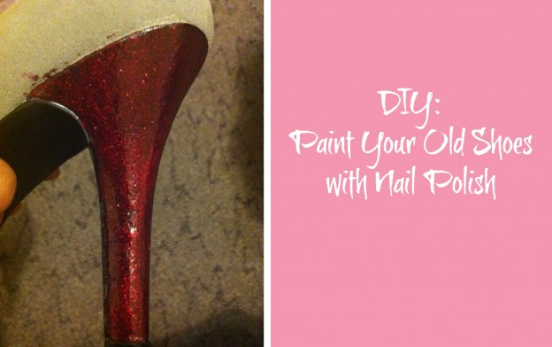 diy paint your old shoes with nail polish