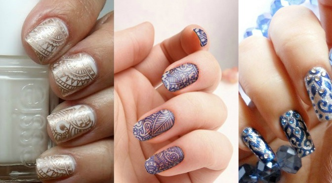 Indian-Inspired-Nail-Art ... - Indian Inspired Nail Art