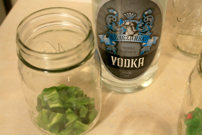 infused vodka jalepeno