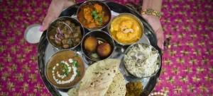 punjabi thali pink chai living