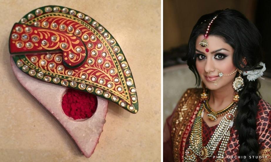how to wear sindoor