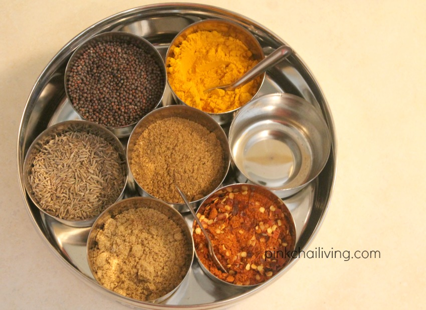 spices for masala dabba