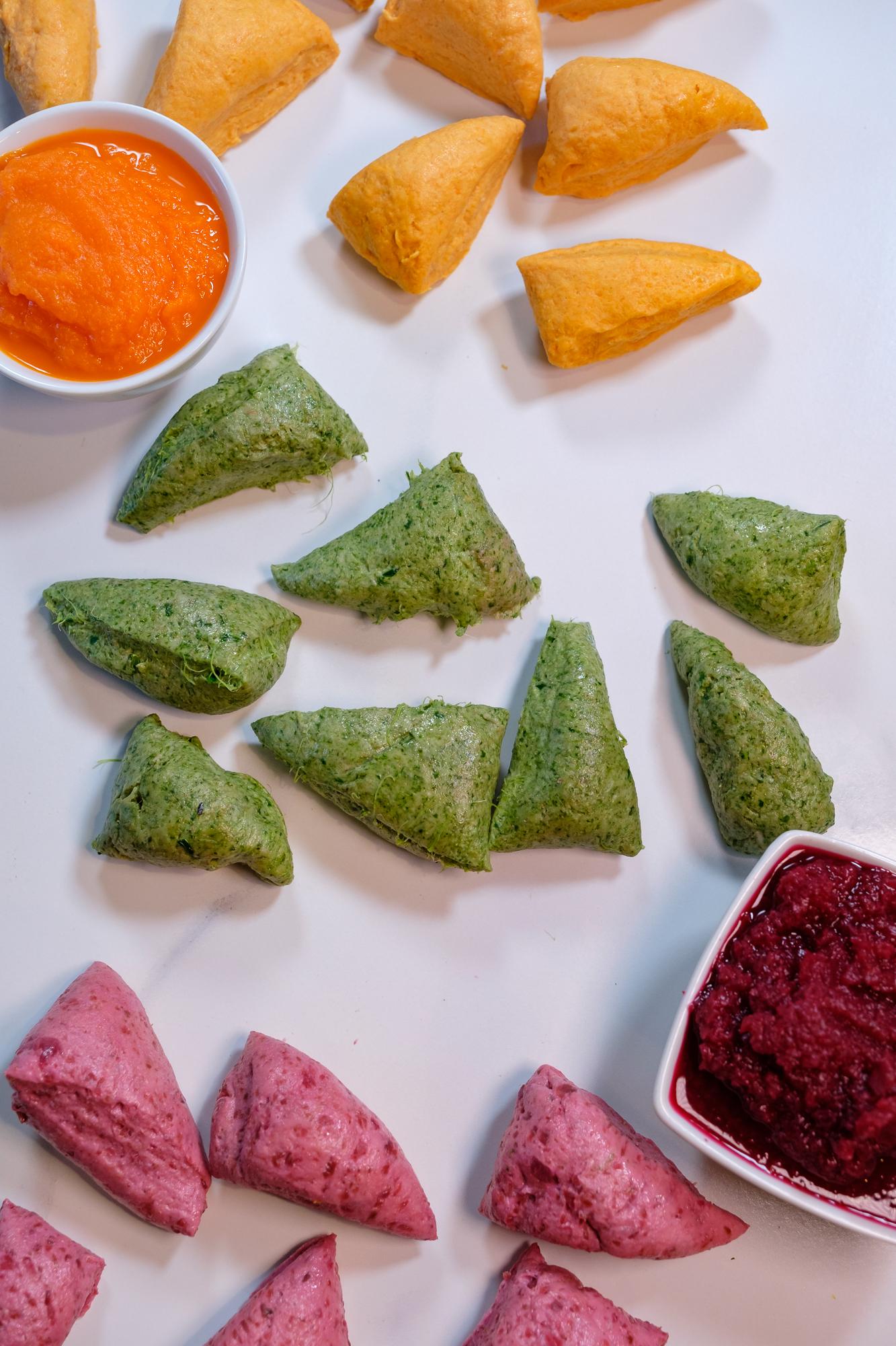 vegetable atta, rainbow roti