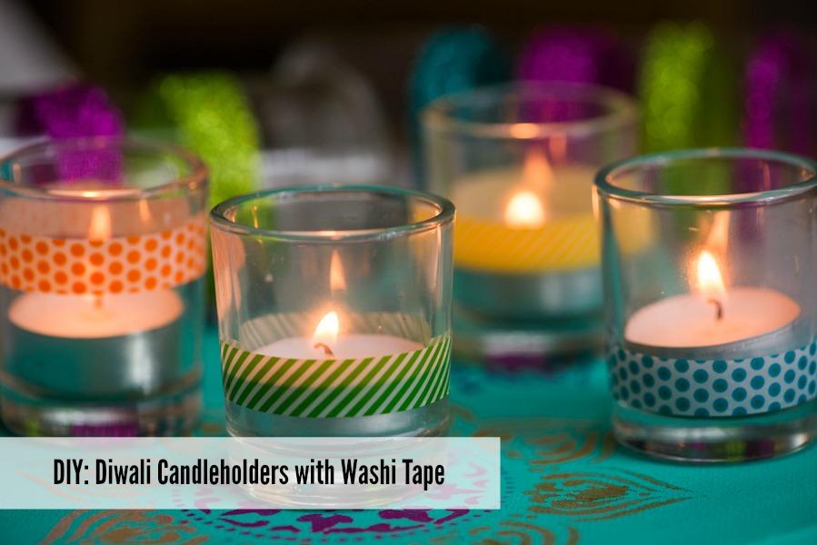 diy diwali candleholders