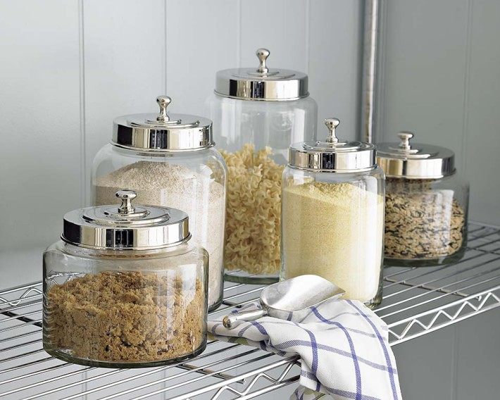 williams sonoma glass canisters