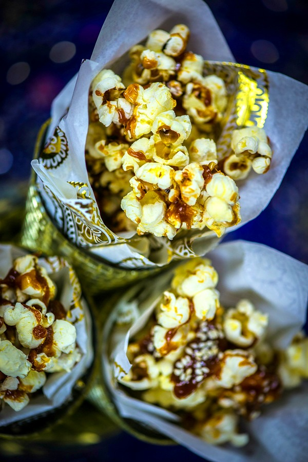lohri popcorn with gur and till