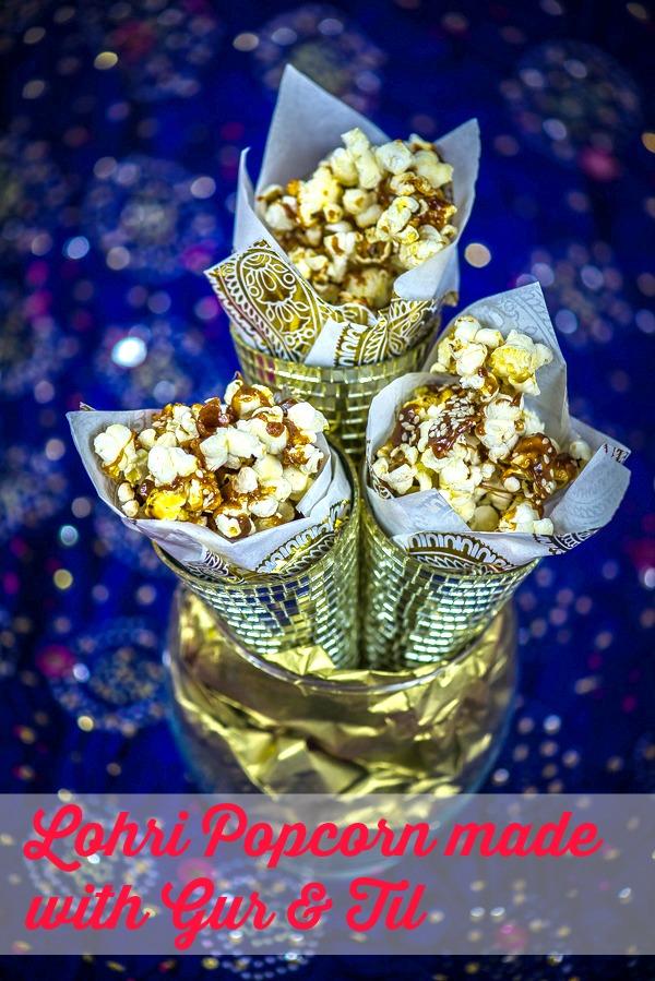 lohri popcorn with gur and til