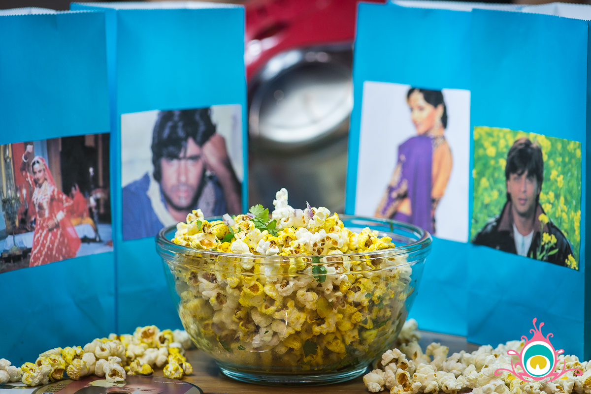 bollywood movie night, masala popcorn