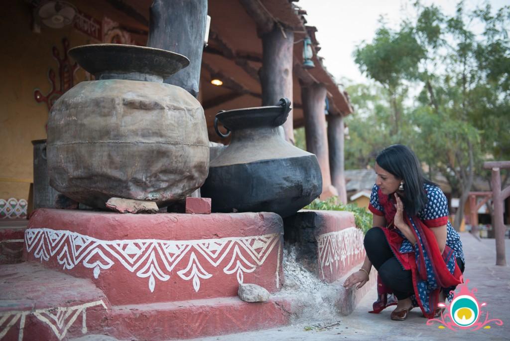 chokhi dhani jaipur, pink chai