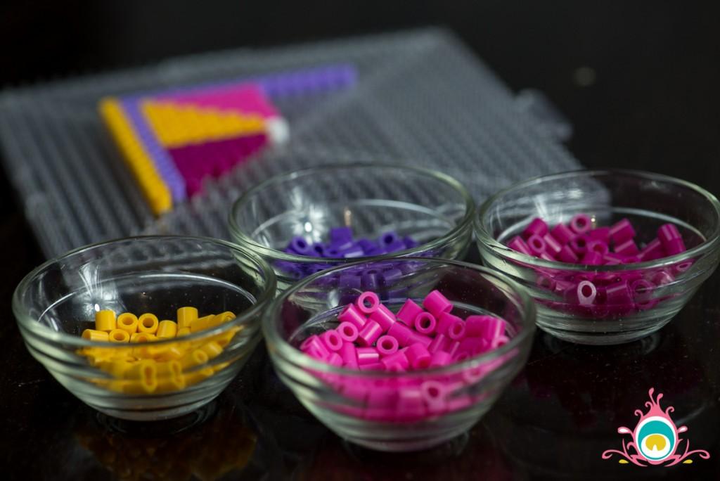 perler bead coasters, phulkari diy