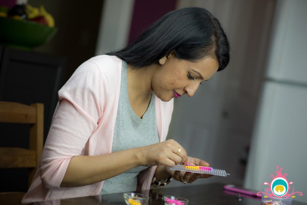 perler bead coasters, phulkari inspired diy