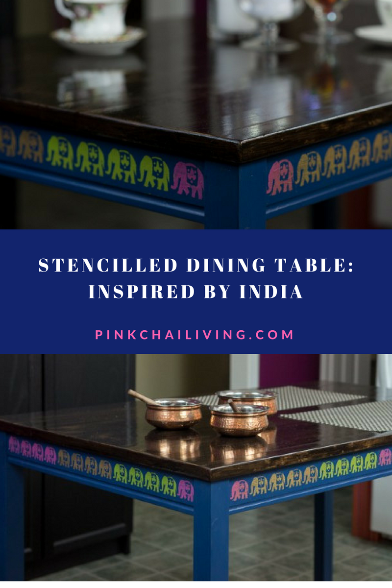 Ikea Hack: Stenciled Table, Inspired by India