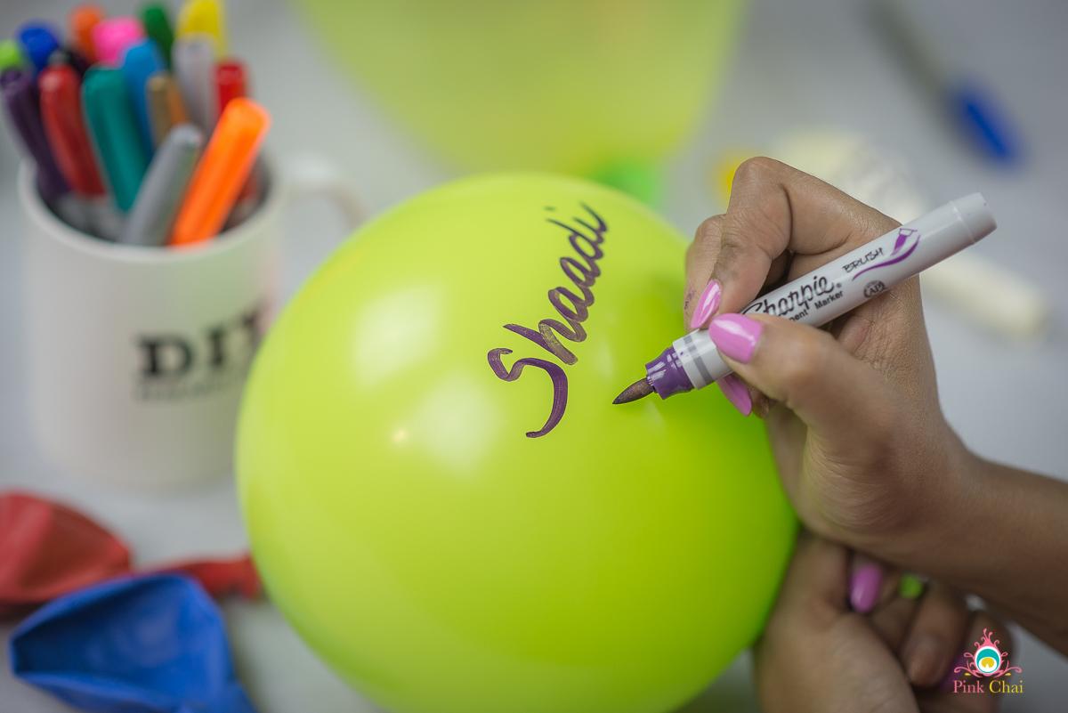 diy handwritten balloons
