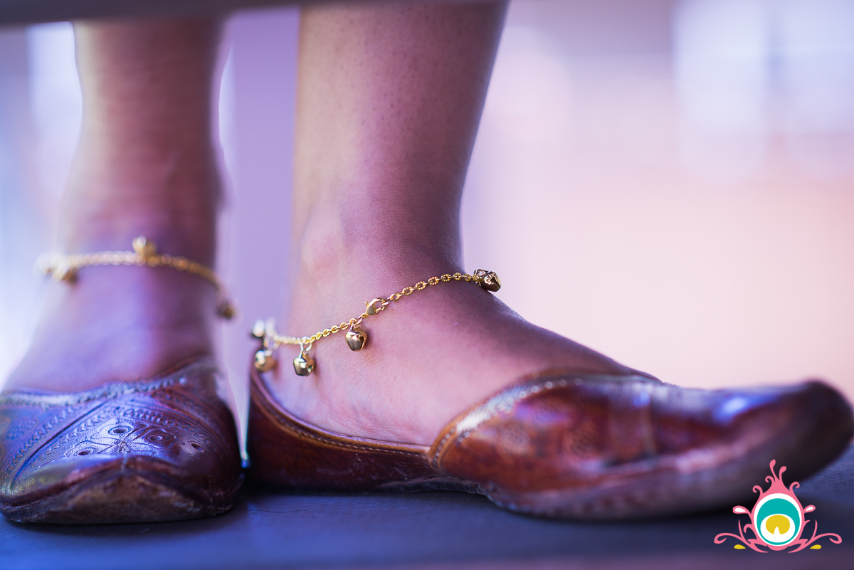 DIY Payal {Indian Anklets} Pink Chai Living