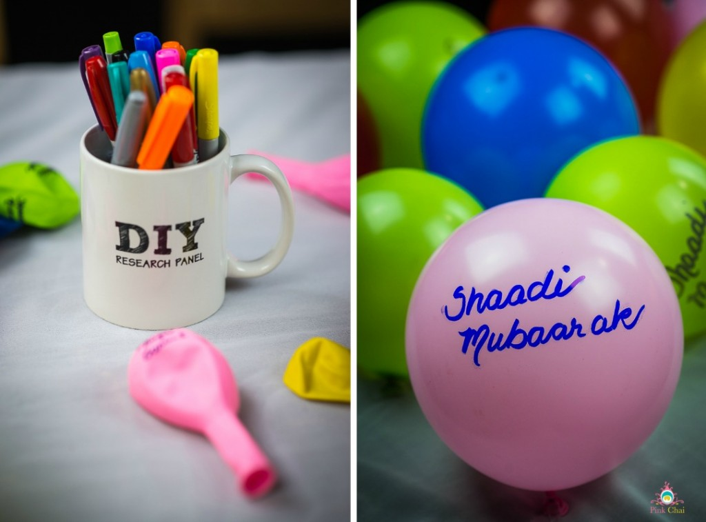 DIY Handwritten Balloons with Desi Sayings | Pink Chai Blog
