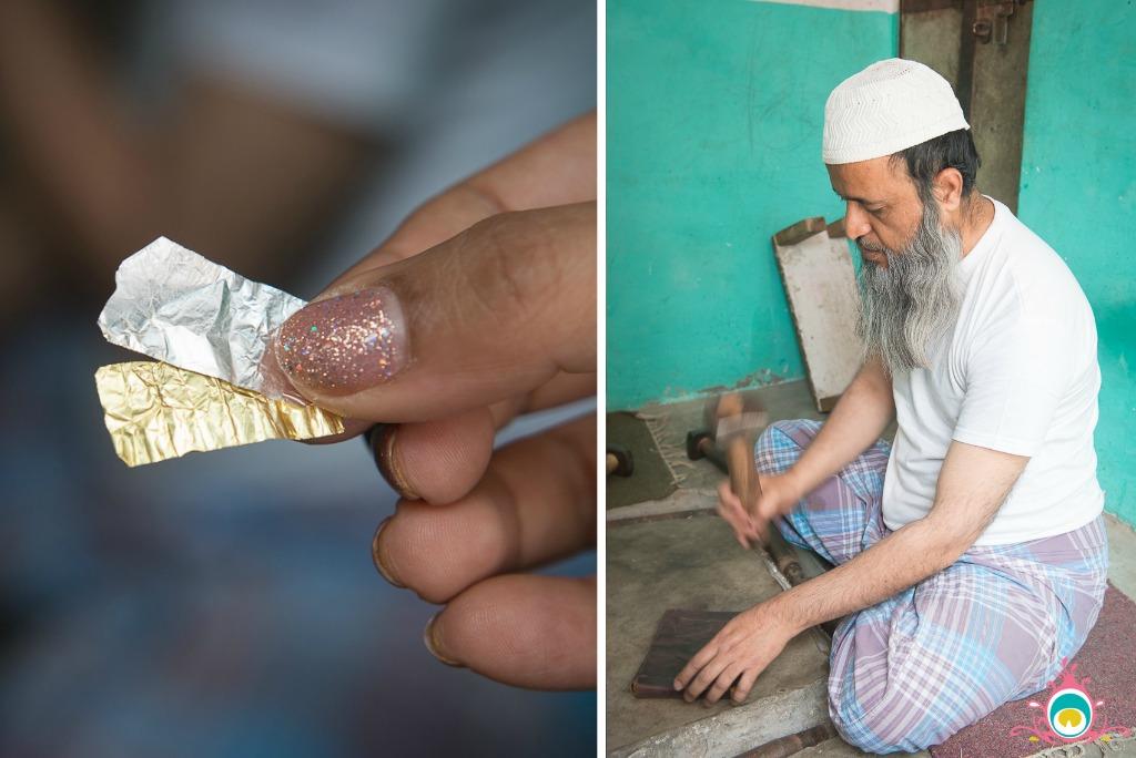 pannigar rasta jaipur, making chandi ka vark, jaipur travel guide