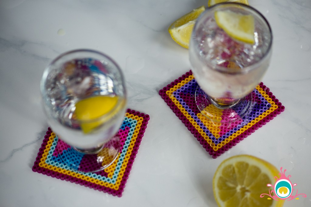 5 easy diy home decor projects, phulkari print inspired coasters