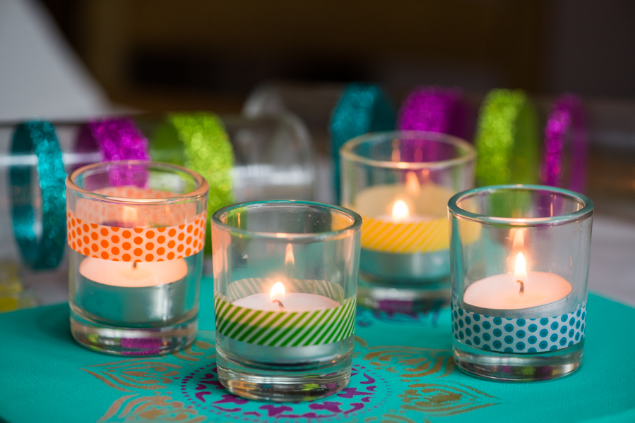 5 easy diy home decor projects, washi tape candle holders