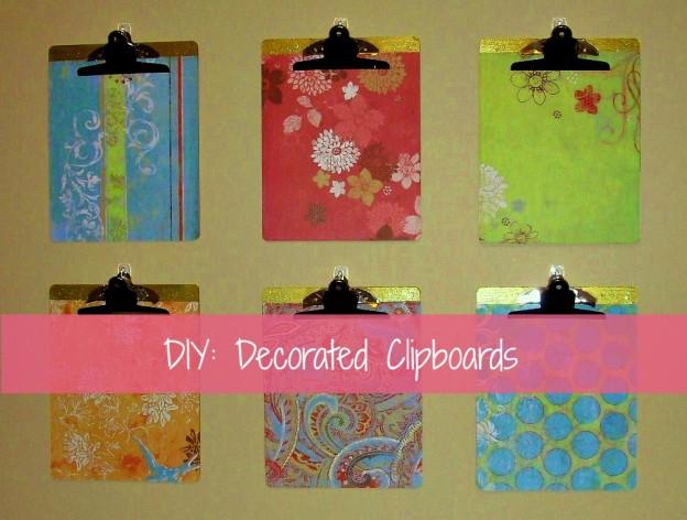 5 easy diy home decor project, decorative clipboards