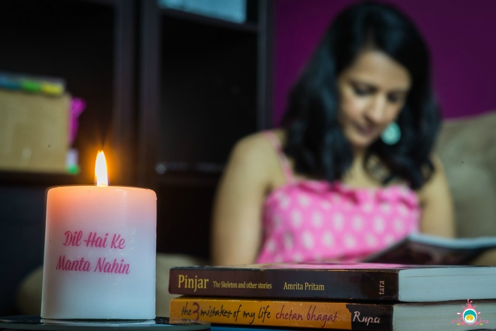 DIY Bollywood Quote Candles