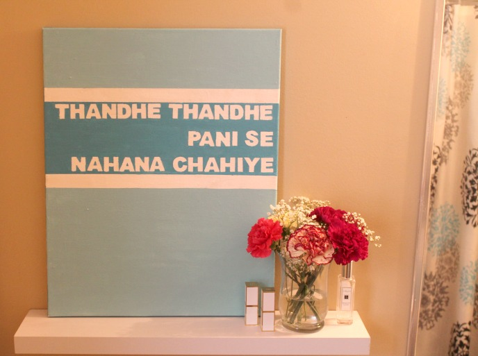 5 easy diy home decor projects, bollywood canvas art