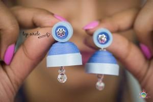 quilled paper jhumka (earrings) diy