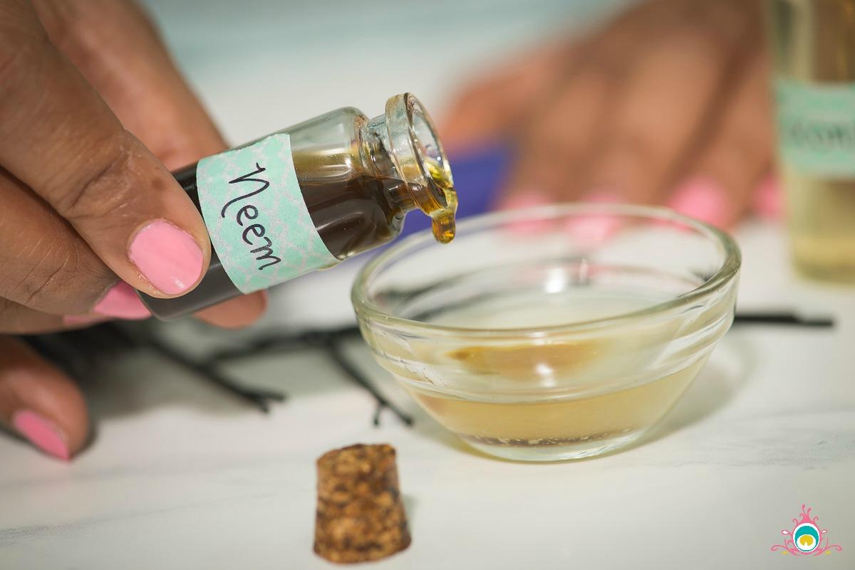 summer hair oil, neem oil