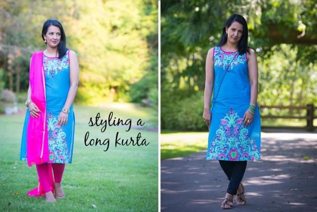 styling a long kurta, indian and western