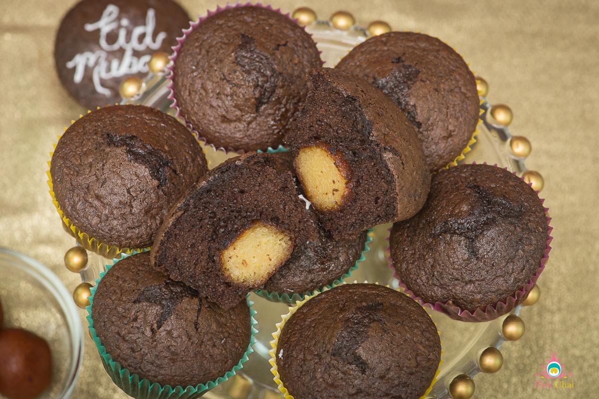 gulab jamun cupcakes, pink chai living