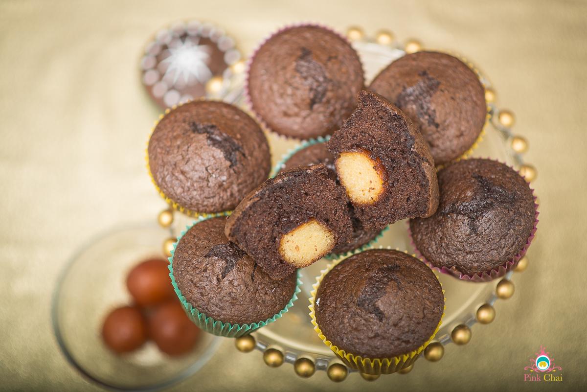 gulab jamun cupcake, pink chai living