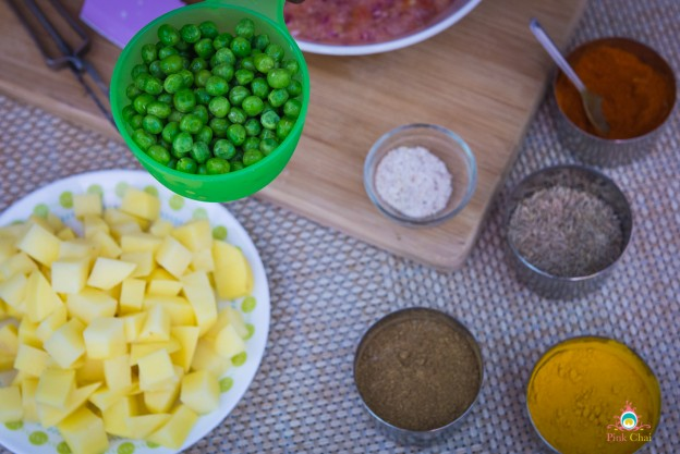 aloo matar sabzi recipe with step by step pictures