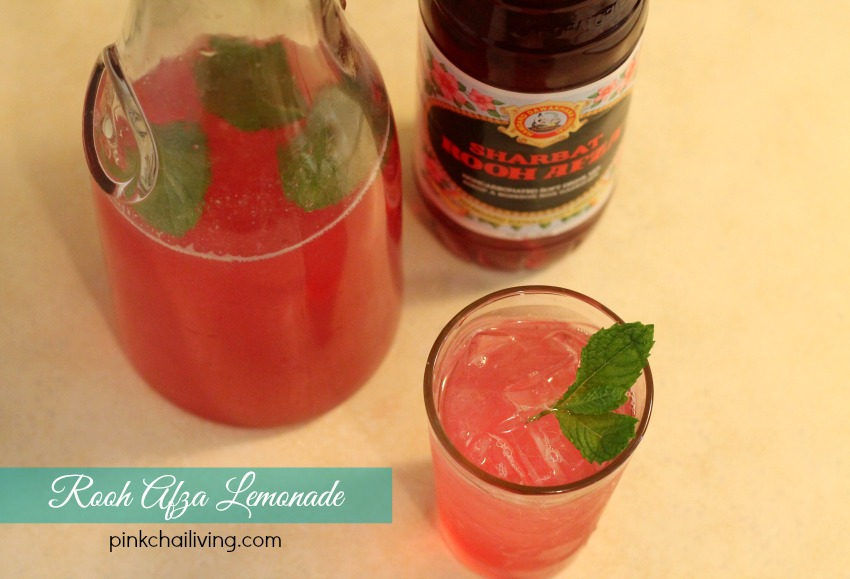 rooh afza lemonade with mint, perfect for iftaar