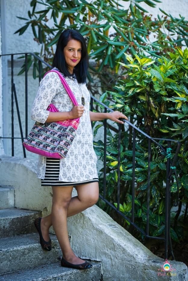 style a kurti as a dress, pink chai living