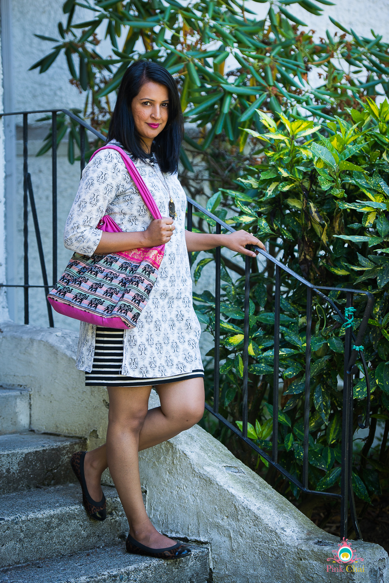 style a kurti as a dress, pink chai living