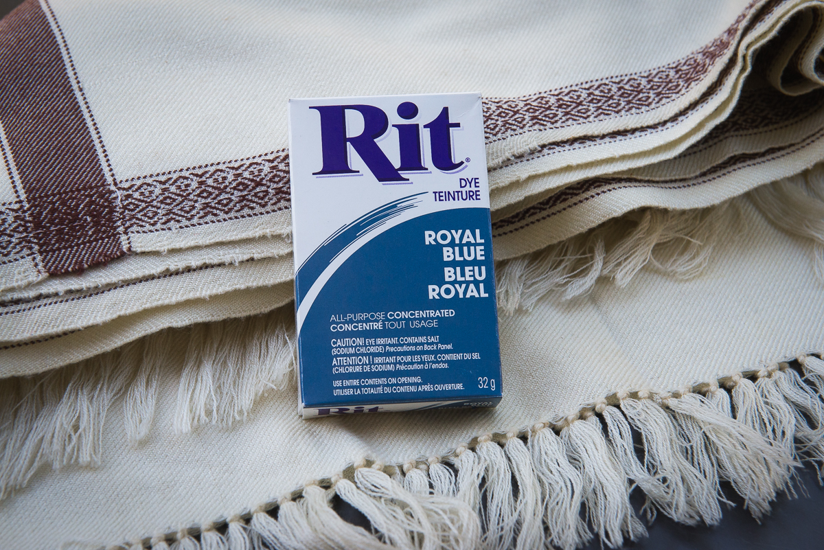 dyeing an old shawl