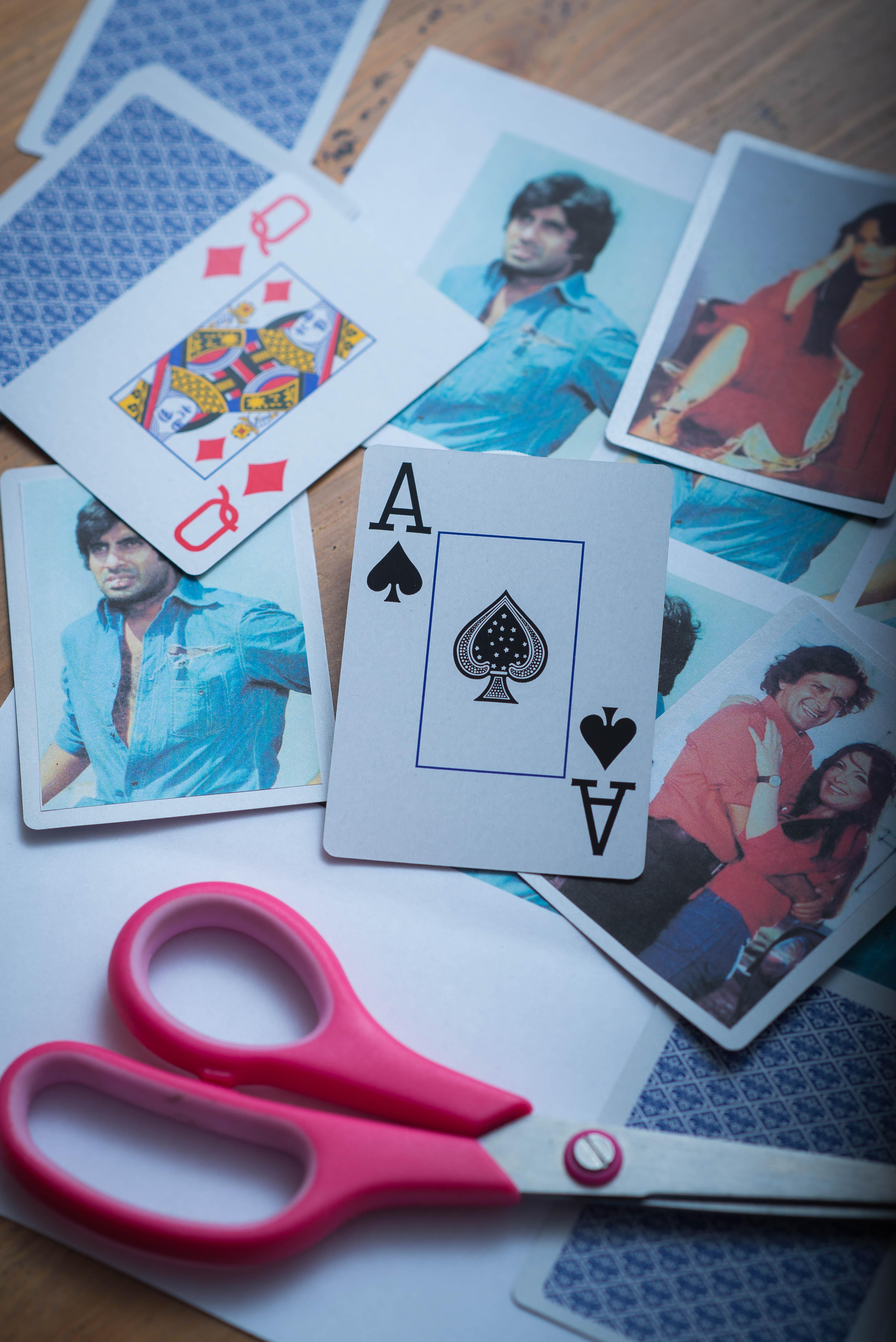 diy bollywood playing cards, diwali, pink chai