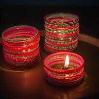 candleholder from chudiyan