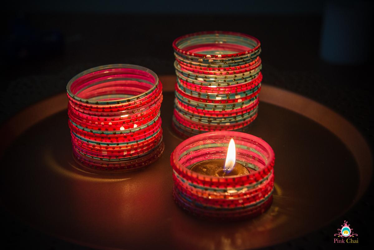 candleholder from chudiyan, diwali evite