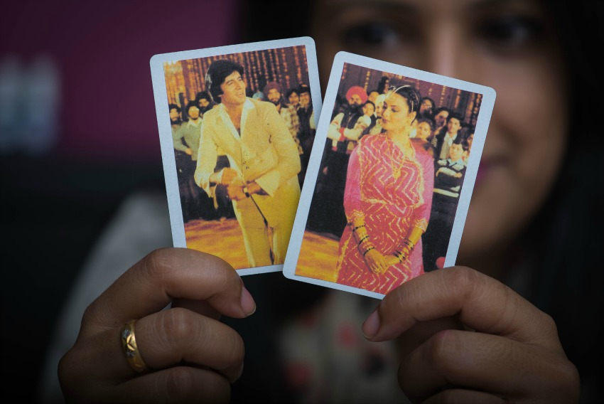 bollywood playing cards, pink chai living