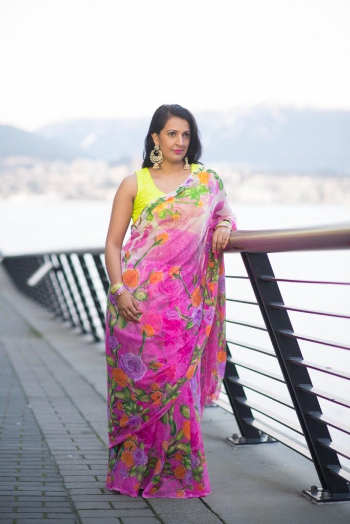 one saree two ways