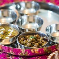 amritsari choley, pink chai living