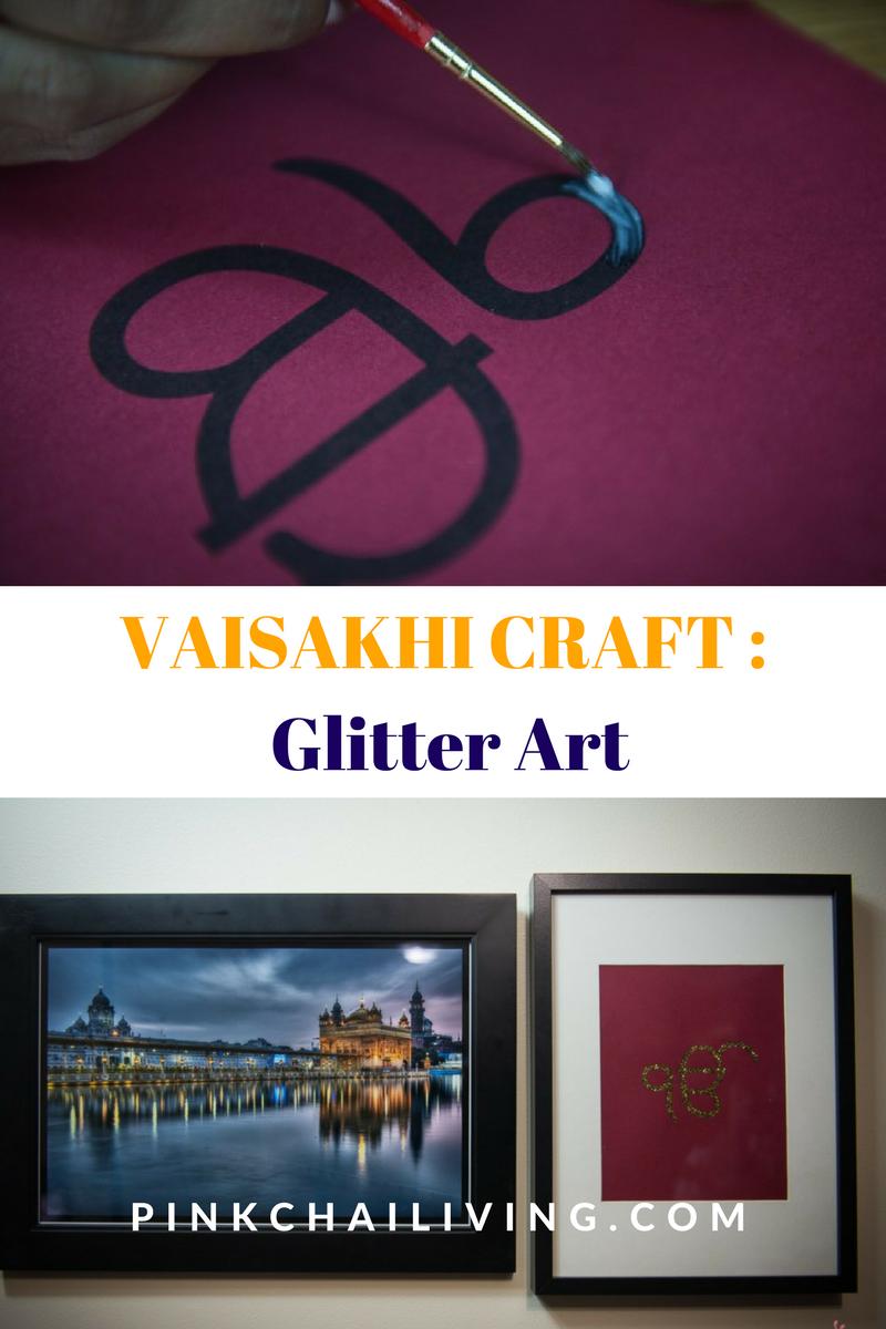 vaisakhi craft, glitter art