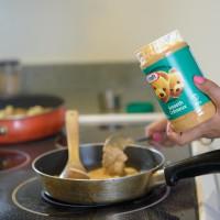 aloo gobi with peanut butter sauce