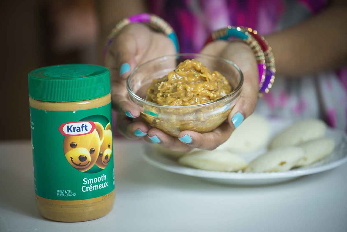 peanut butter chutney, pink chai living