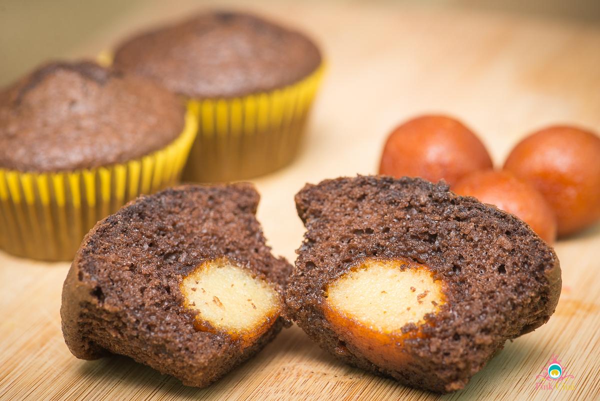 indian fusion desserts, gulab jamun cupcakes