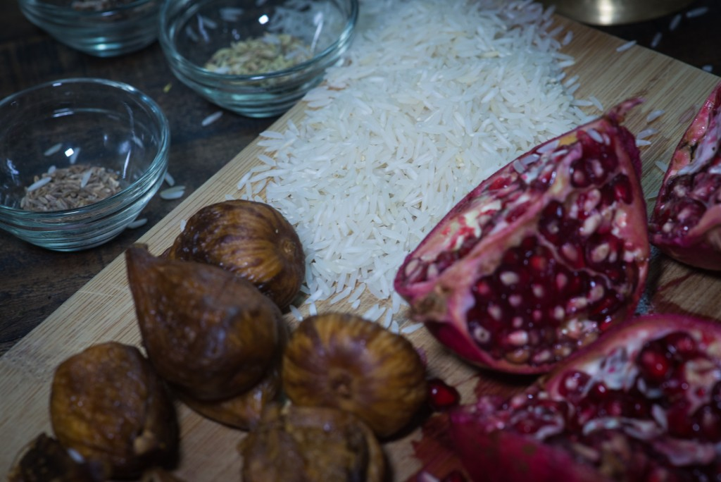 persian inspired jewelled rice