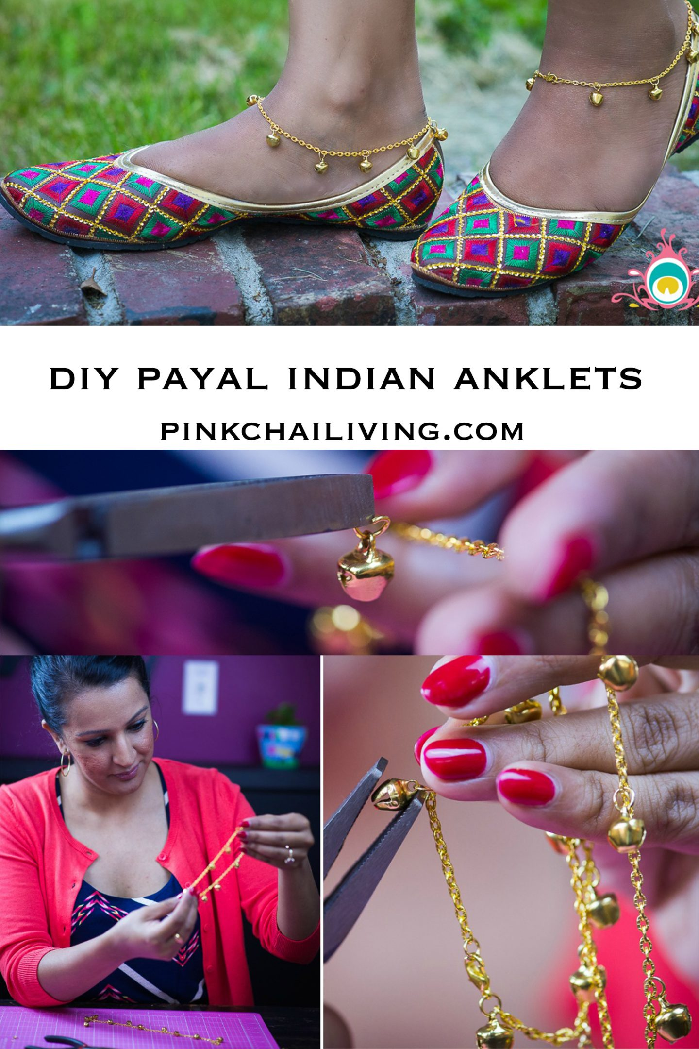 DIY Payal // Indian Anklets | Pink Chai