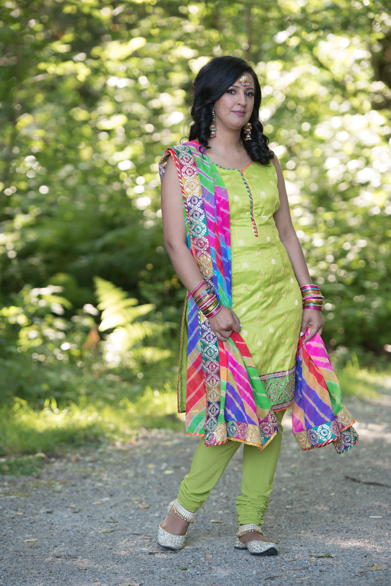 punjabi suit green