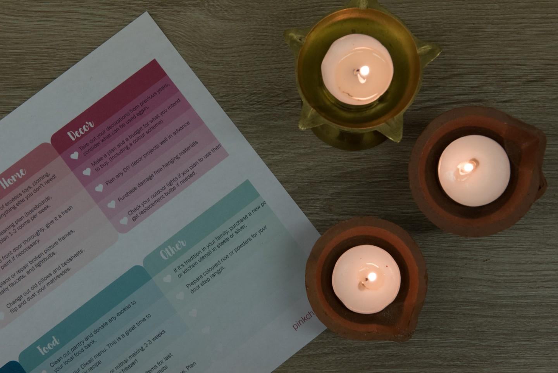 diwali checklist, pink chai
