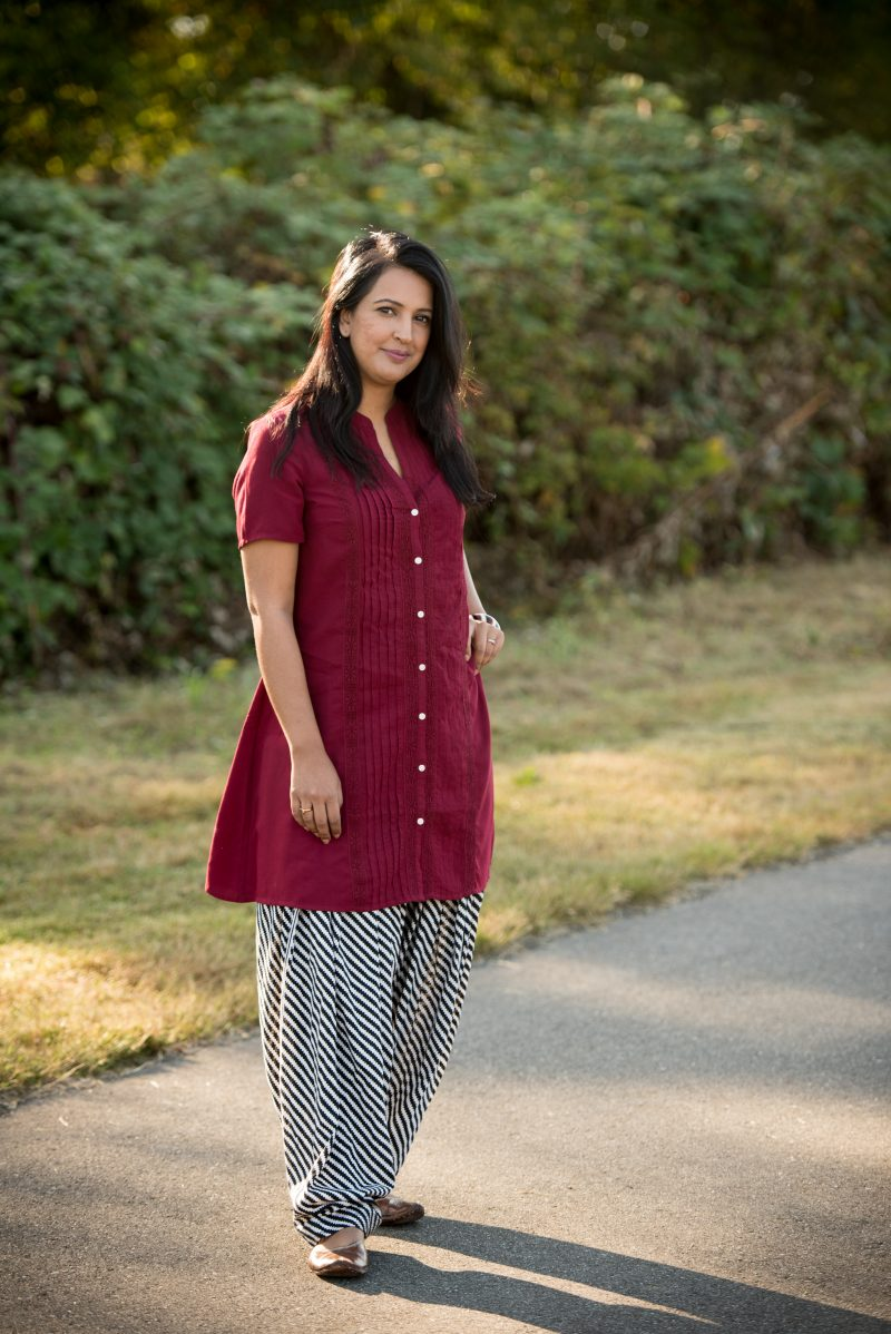 indo fusion outfit, kurti, pink chai